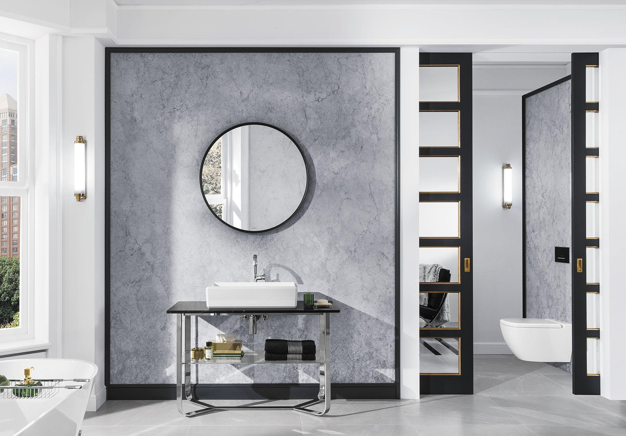 Bagno moderno - in ceramica, in marmo, in acciaio inossidabile - ANTHEUS