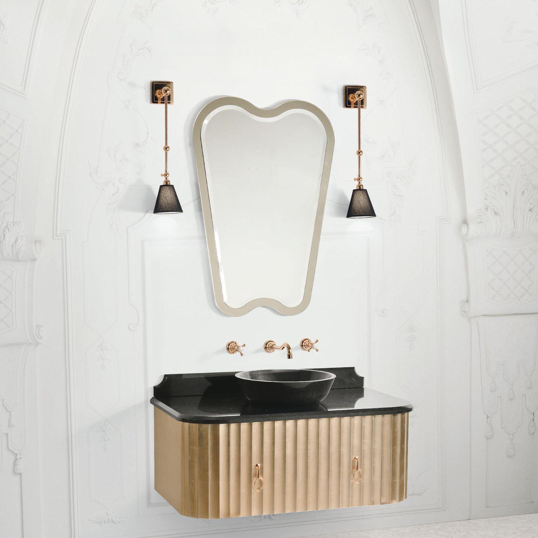 Mobile lavabo sospeso / in marmo / classico / con cassetti