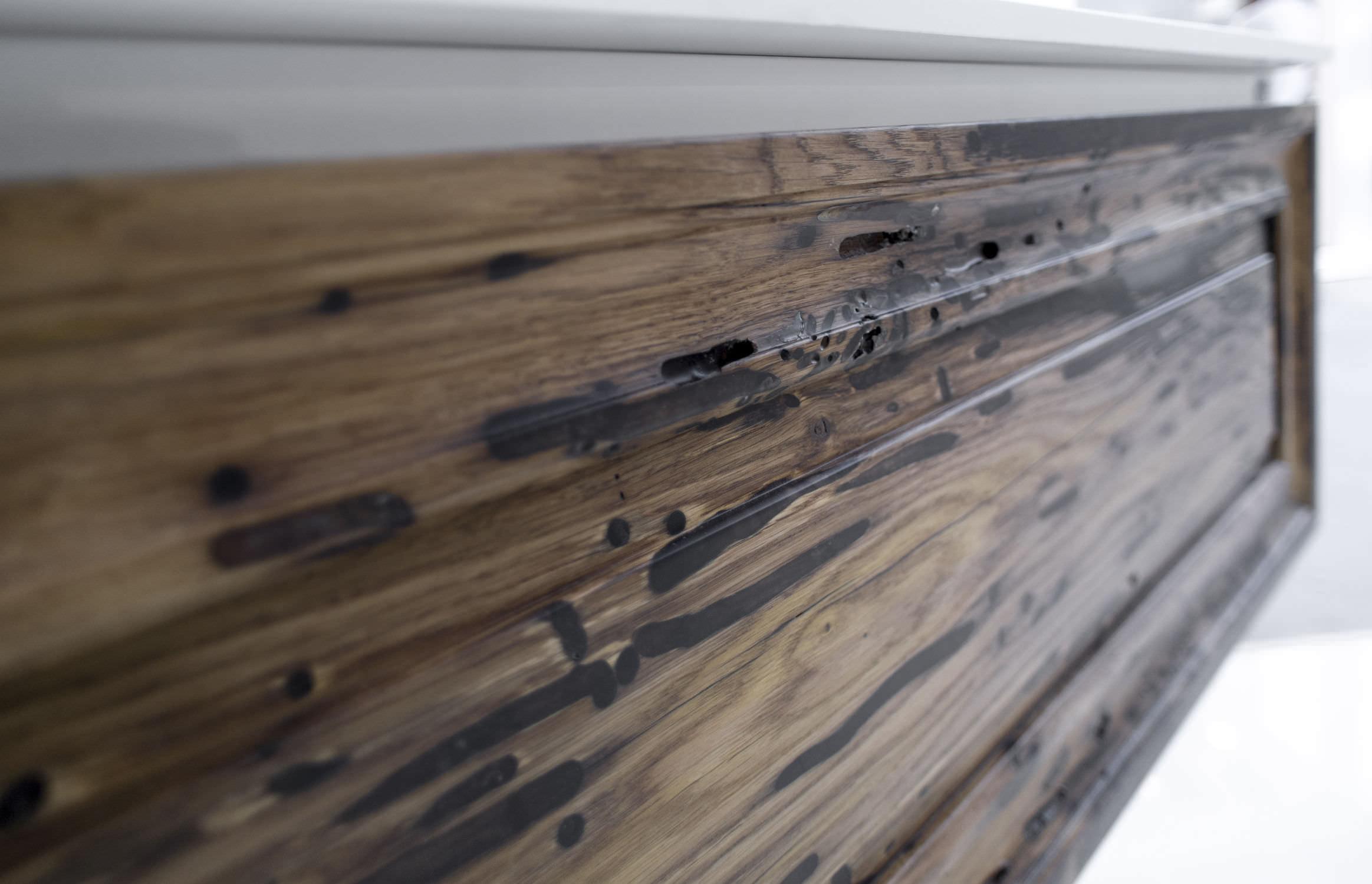 Mobile lavabo sospeso - in legno, moderno, con cassetti, CHARME VINTAGE 1 105.5x51x35cm Dettaglio