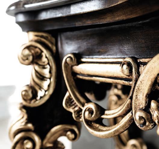 Dettaglio mobili in legno bagno di lusso