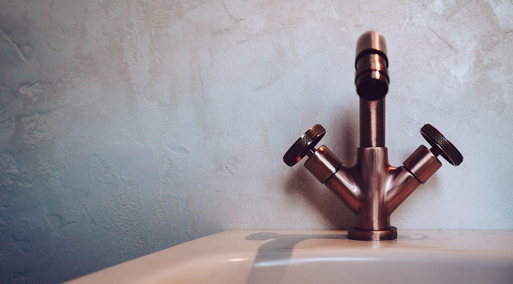 Monocomando per lavabo con scarico automatico – con cartuccia - Finitura in bronzo