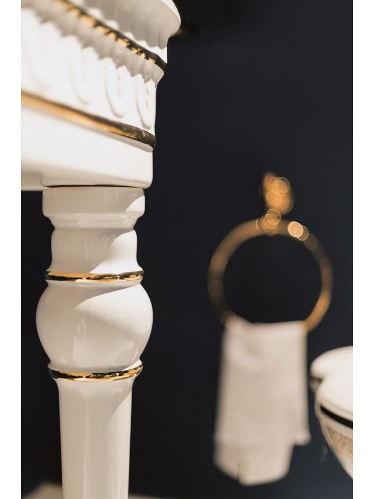 Consolle - decori, rubinetterie oro, in ceramica
