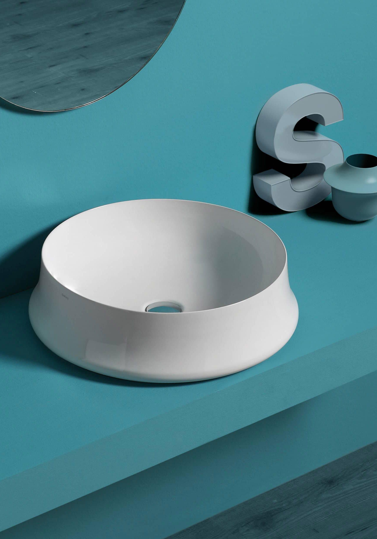 Lavabo Simas, bagno moderno design originale ceramica