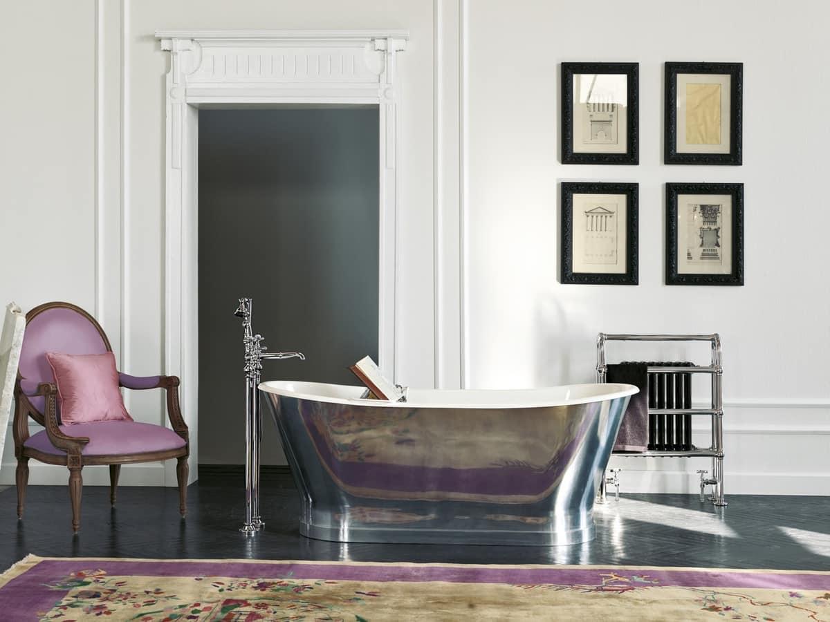 Vasca in ghisa - Richmond con rivestimento in foglia alluminio